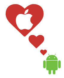 Android loves Apple